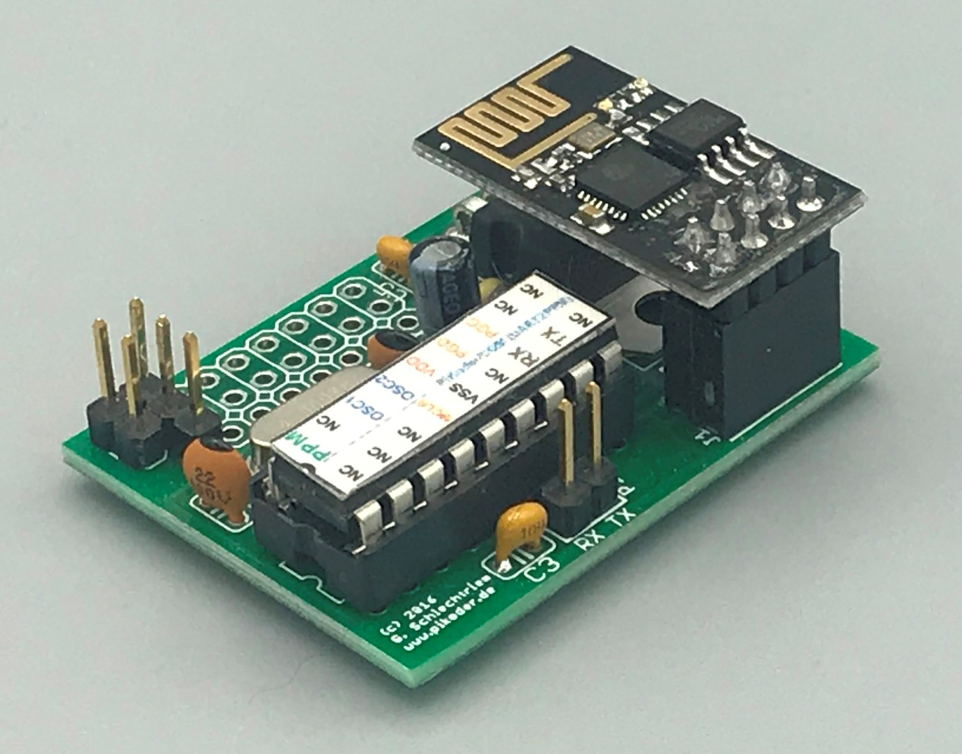 PiKoder/PPM wRX: PiKoder/PPM WLAN R/C receiver with PPM Output